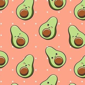 Kawaii avocados