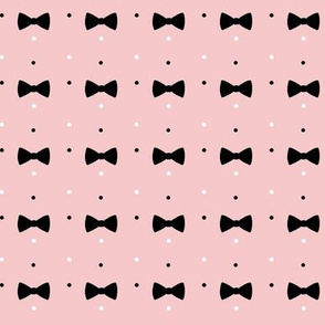 Bow and Dots  Ditsy Pattern* pink