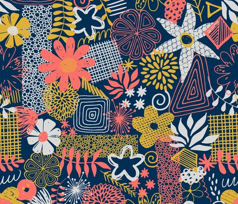 Organic Flower Mix fabric by diseminger on Spoonflower - custom fabric