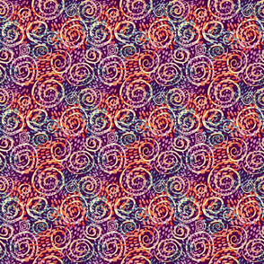 Dashes and Swirls on Plum