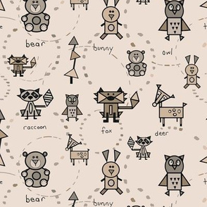 Woodland Animal Shapes