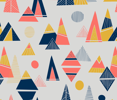 Triangle Mountains fabric by laura_k_maxwell on Spoonflower - custom fabric