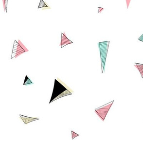 Triangle doodle- offset color