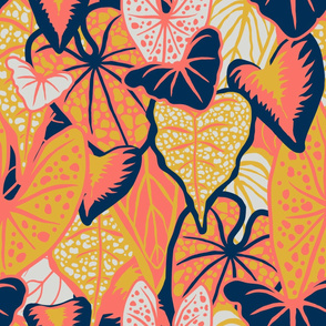 Tropical Foliage (large) - Limited Palette