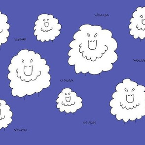 Blue fields of Sheep