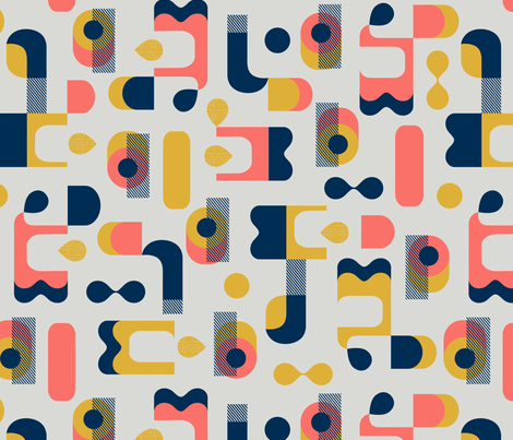 No Matter What Shape fabric by ottomanbrim on Spoonflower - custom fabric