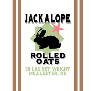 "Jackalope Oats 18"" Pillow Panel 