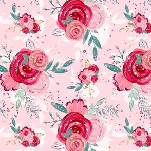 Red Pink Floral