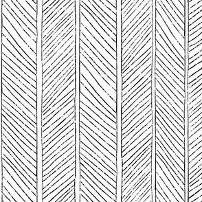 Herringbone Pattern 1 - Black on white large scale