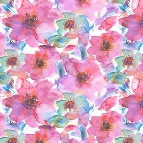'Effie' in pink || watercolor flowers