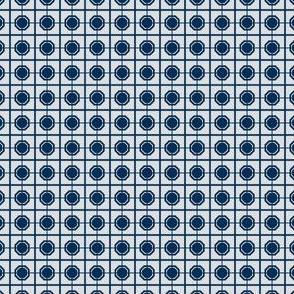 Oriental Screen of Midnight Blue on Gray
