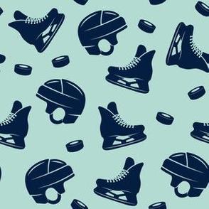 Ice hockey - navy on dark mint medley - LAD19