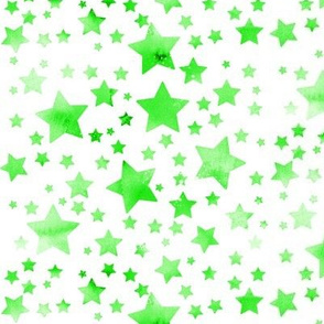 Stars - watercolour green