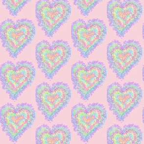 Sparkling Sweethearts on Pink