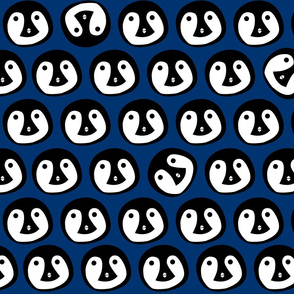 Penguin Animal Print  - Blue