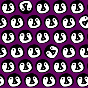 Bright Purple Penguin Animal Print
