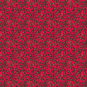 Deep Pink Rose Velvet Spotted Leopard Animal Print Pattern