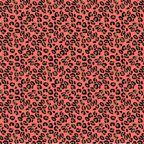 Living Color Color of the Year in Coral Beige and Black Leopard Spots