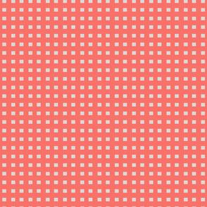Coral _ grey squares
