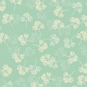 Poppy Leaves-aqua