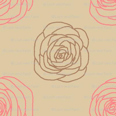 Mod Chalkline Rose   Vintage Vacation