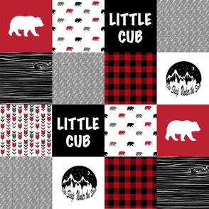 Little Cub - Woodland Patchwork Quilt Top || Buffalo Plaid - WWCQ2