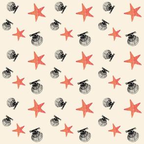Scallops and sea stars
