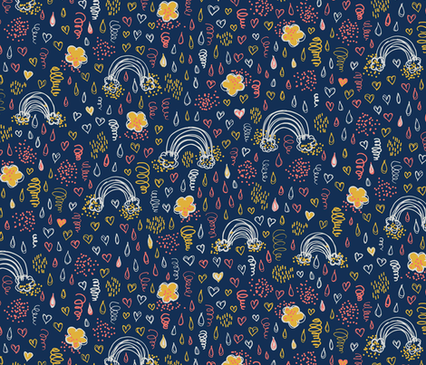 Daydream in Coral Limited fabric by clarekettering on Spoonflower - custom fabric