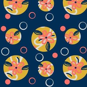 circles of summer / Navy coral