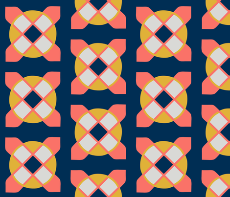 Circled Cross LP5-clean fabric by scarlettrose on Spoonflower - custom fabric