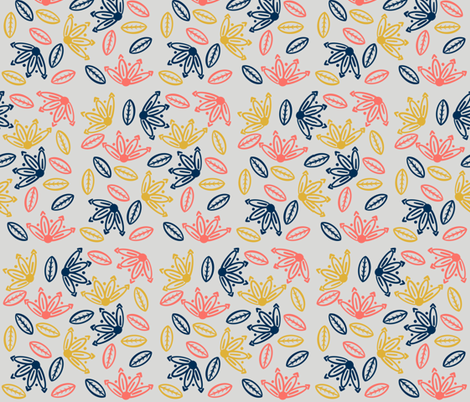 Floral Flurry fabric by thecraftypug on Spoonflower - custom fabric