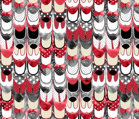 Rockabilly Shoes - Red and Black and Polka Dots fabric by marketa_stengl on Spoonflower - custom fabric