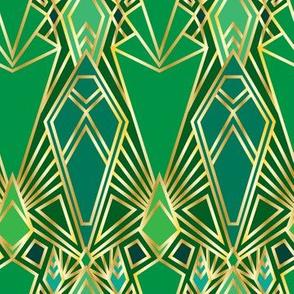 Art Deco City Gates in Emerald