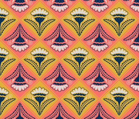 Daisy Diamonds fabric by marcy_horswill_design on Spoonflower - custom fabric