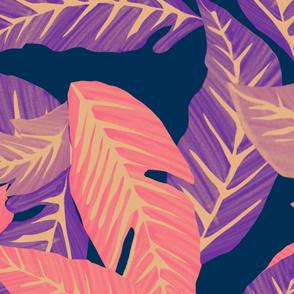Retro jungle purple vibe