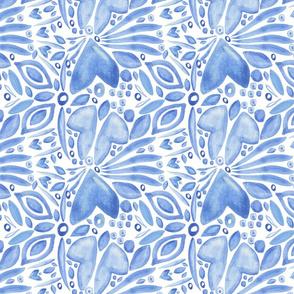 Blue Folk Pattern No. 2