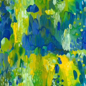Abstract Yellow Green Blue