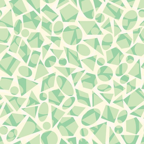 Green and yellow geometric shapes pattern