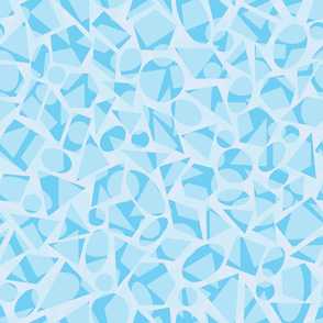 Pastel blue geometric shapes pattern