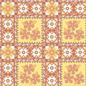 Pysinky Orange Flower Tiles