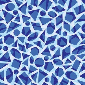 Blue geometric shapes pattern