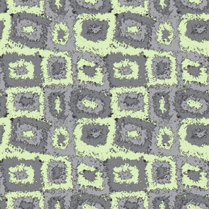 Limited Color Palette Green Gray Plaid