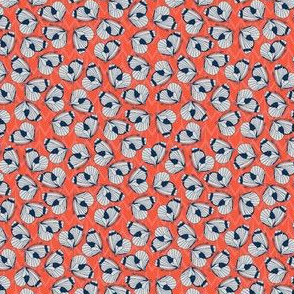 Papillon (Coral) - tiny pattern