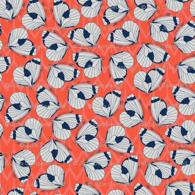 Papillon (Coral) - small pattern