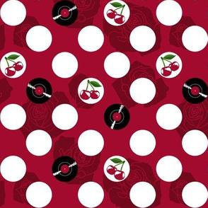 Rockabilly Vinyl Polka Dots