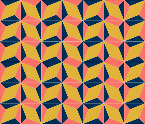 Coral Block Tile fabric by the_outfoxed on Spoonflower - custom fabric