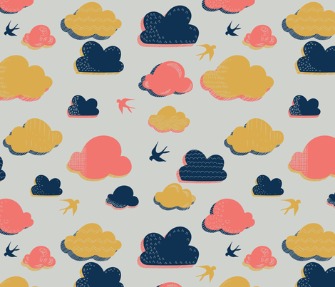 cloudy day fabric by cheery_plum on Spoonflower - custom fabric