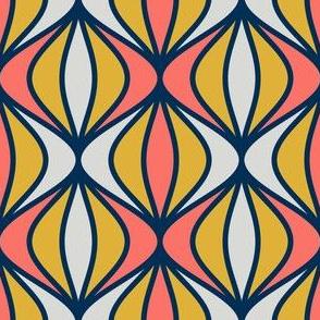 08416668 : sine pod : coral + goldenrod