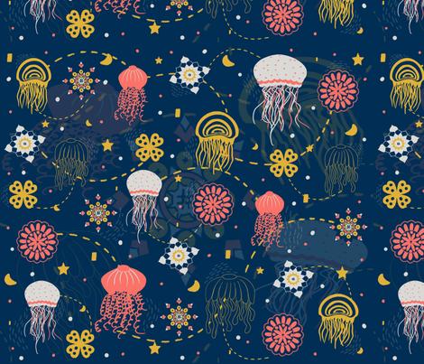 Jellyfish. fabric by maria81 on Spoonflower - custom fabric