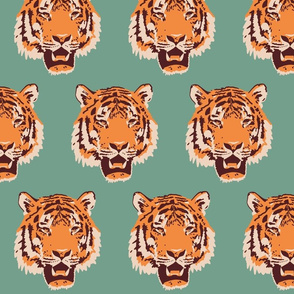 Timothy the Tiger on teal